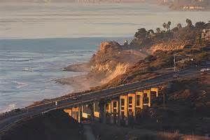 Scenic road to Del Mar