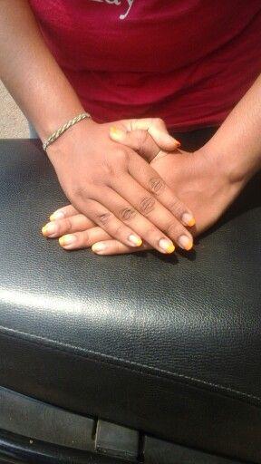 Orange tied nails vit transparent nail polish