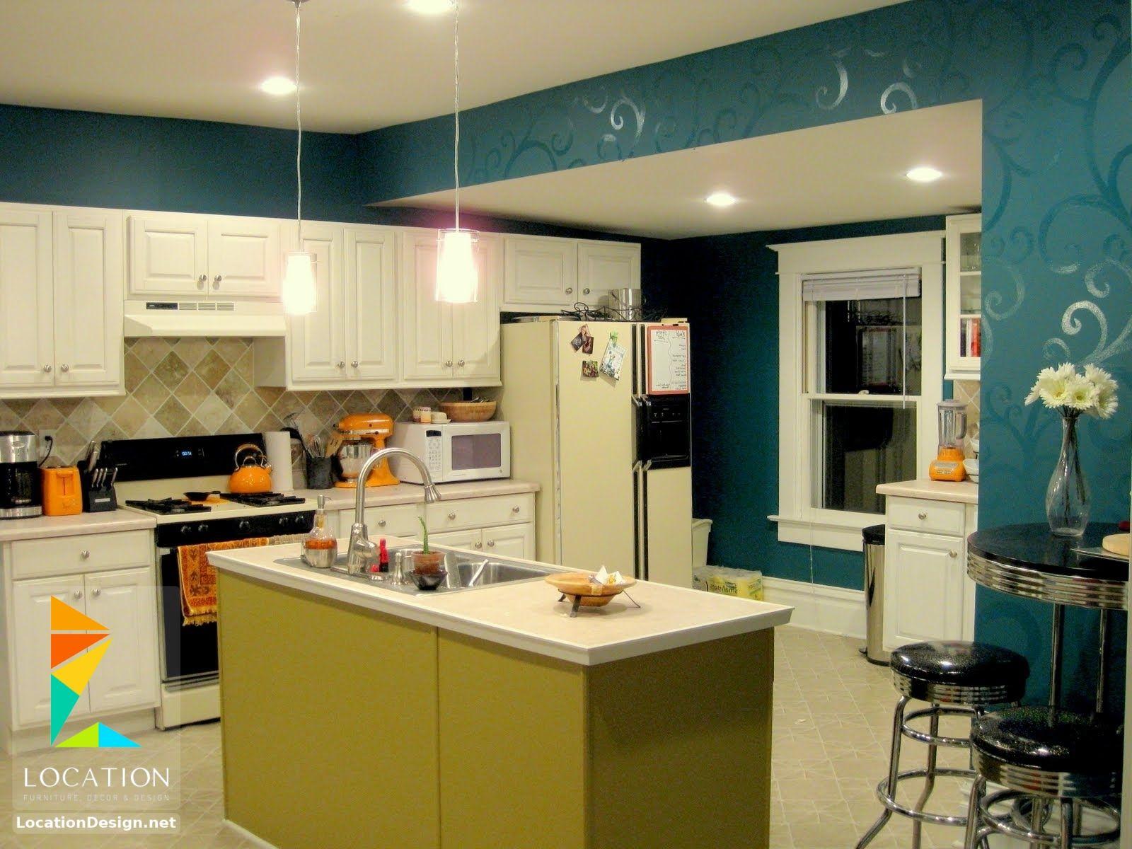 انواع المطابخ المنزلية لوكشين ديزين نت Country Kitchen Colors Modern Kitchen Colours Kitchen Design Color