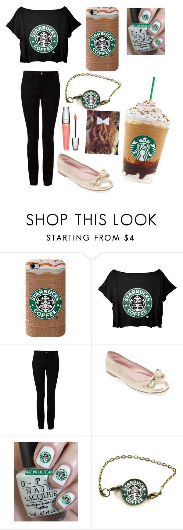 """Starbucks"" by danbea ❤ liked on Polyvore featuring Alexander Wang, La Canadienne and Lancôme"