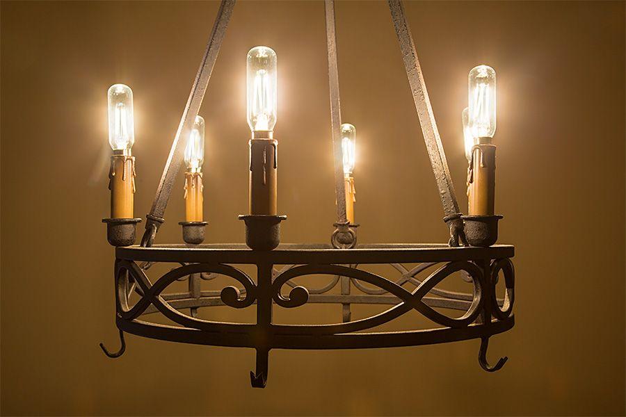 T8 Led Filament Bulb 40w Equivalent Candelabra Led Vintage Light Bulb Radio Style Dimmable 370 Lumens Vintage Light Bulbs Led Chandelier Bulb
