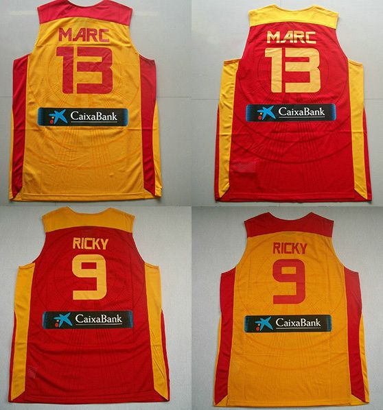 buy popular fa541 c3892 Spain Basketball Ricky Rubio Marc Gasol Basketball Shirt ...