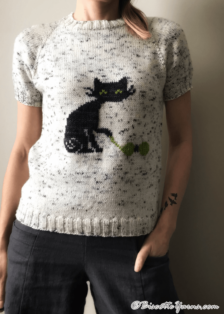 Biscot-tee Cat Free Sweater Pattern (With images)   Cat ...