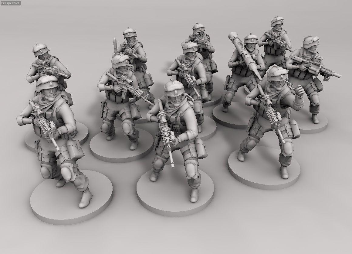 28mm & 32mm modern wargame American marines, miniatures wargames