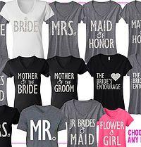 BRIDAL WEDDING 7 SHIRTS