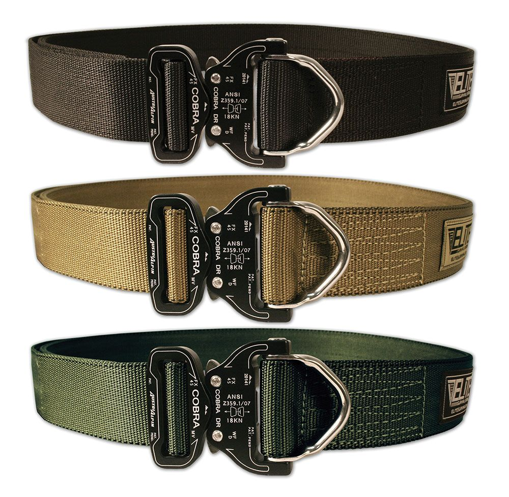 Stiffened Riggers Belt With Cobra D Ring Buckle Gear Up