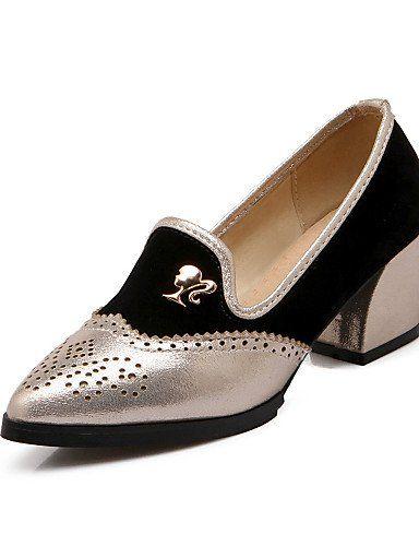 X&D Damenschuhe - High Heels - Outddor / Büro / Lässig - Kunstleder - Blockabsatz - Absätze / Spitzschuh / Geschlossene Zehe -Rot / Silber / - http://on-line-kaufen.de/tba/x-d-damenschuhe-high-heels-outddor-buero-laessig-5
