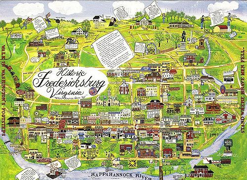 Fredericksburg Virginia Map.Downtown Fredericksburg Va Map Let S Explore All Us Map