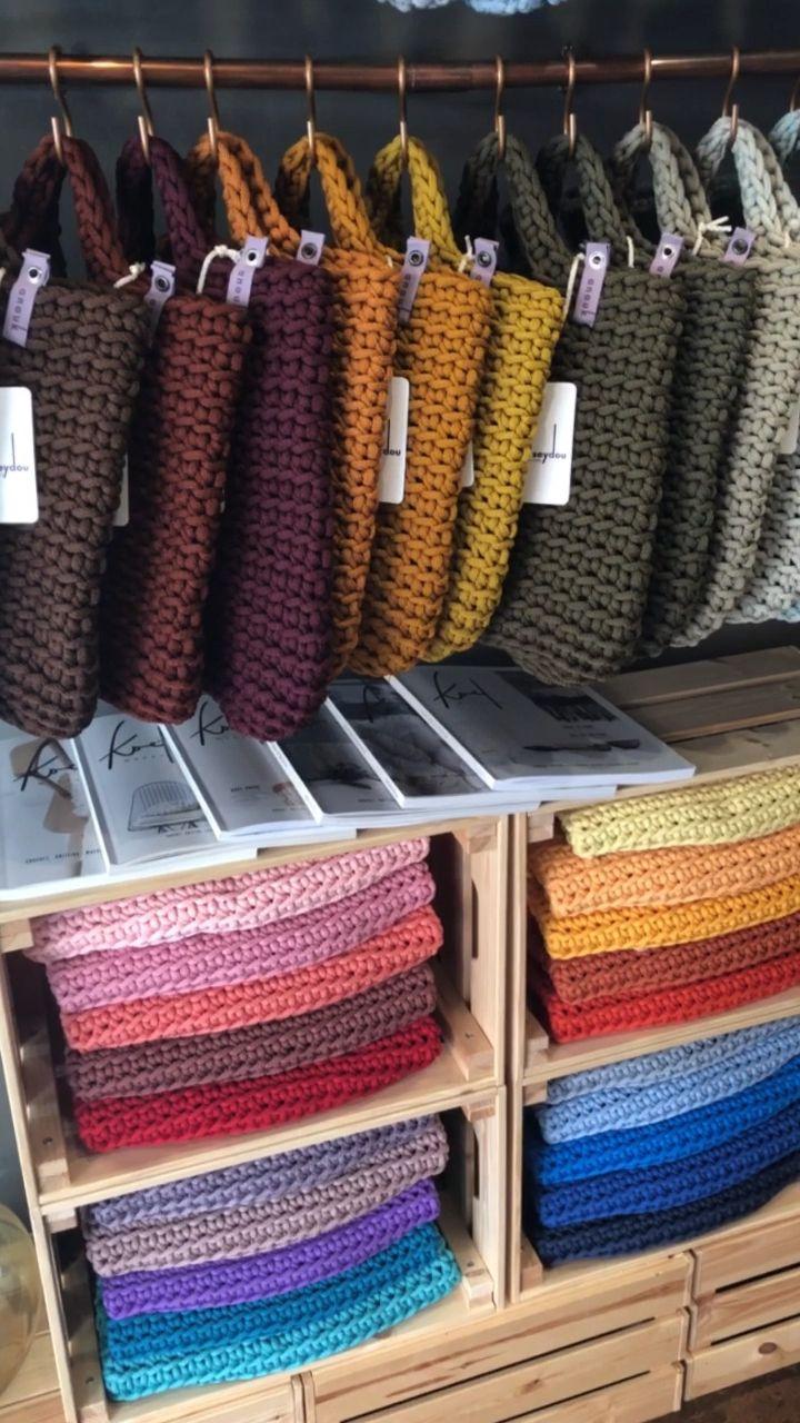Scandinavian Style Crochet Tote Bags