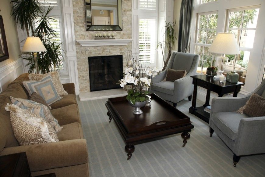 incredible elegant living room beige | 25 Incredible Stone Fireplace Ideas | living rooms/great ...