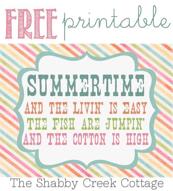 Free Summertime Printable Artwork | Imprimibles, Actividades para ...