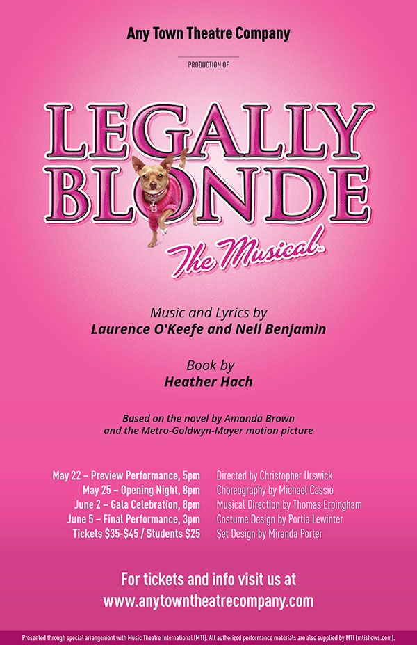 Legally Blonde Customizable Poster Layered Artwork Legally
