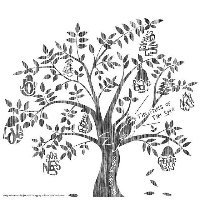 Printable Fruit Of The Spirit Tree