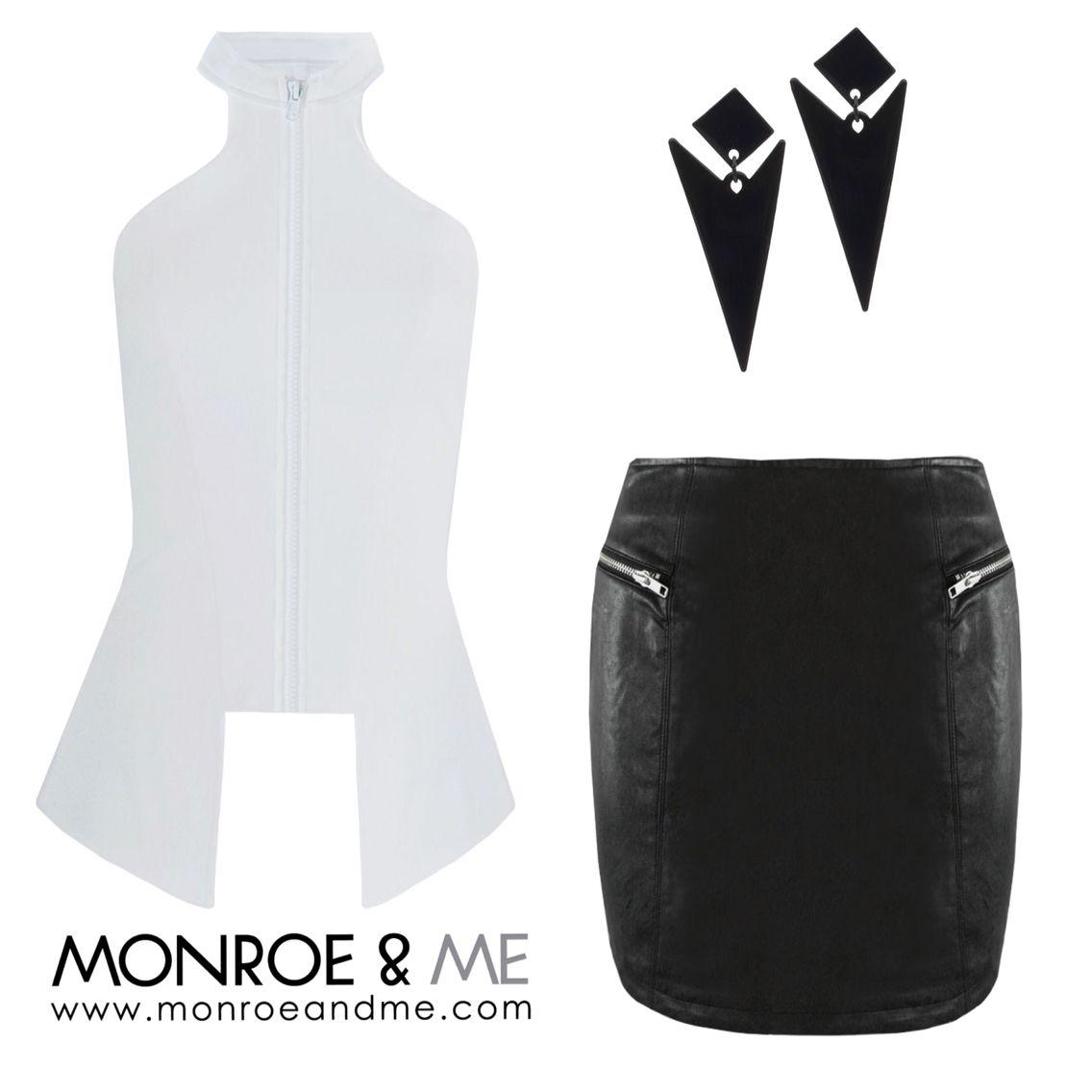 Work this outfit! #monochrome #structured #auguststreet #eviltwin #ootd #makeastatement #bold #nali #blackandwhite #utility #fashion #style #trend #monroeandme #dubai #mydubai #abudhabi #uae #lebanon #qatar #bahrain #oman #saudiarabia #kuwait #jordan #egypt #cyprus #ladiesnight #brunch