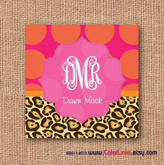 Polka dot leopard print calling cards colorlinks design polka dot leopard print calling cards reheart Image collections
