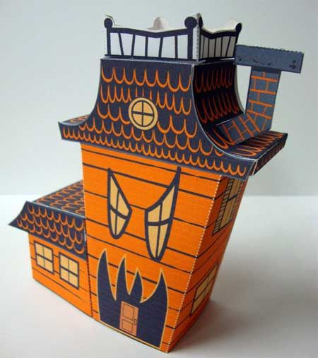 Awesome paper haunted house!