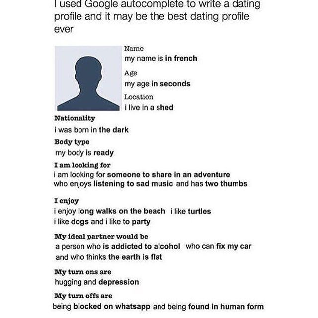 describing yourself on a dating site