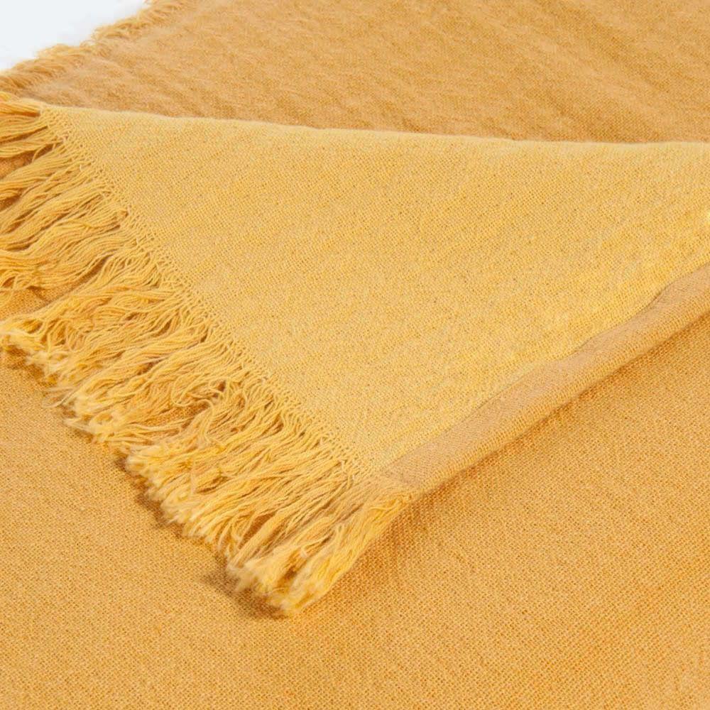 Decke Aus Baumwolle Gelb 130x170