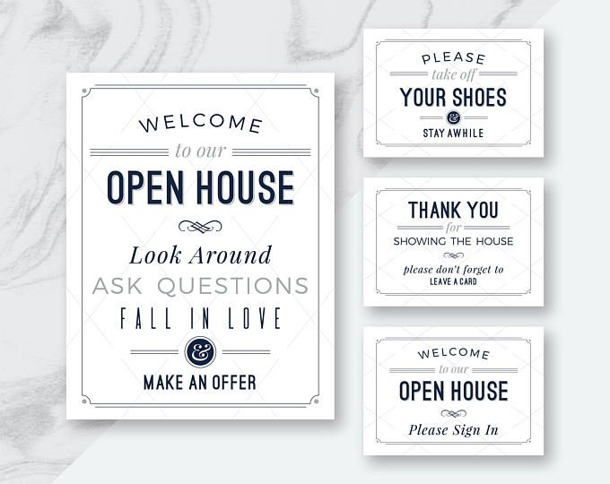 "best deal! real estate ""welcome to our open house"" printables, Powerpoint templates"