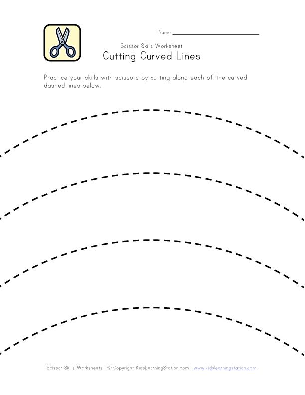 Pin On Early Learning Practice cutting worksheet for preschool