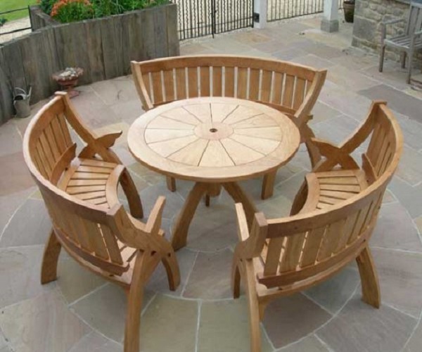 Semi Circular Wooden Benches Google Search Garden Furniture Design Outdoor Furniture Sets Used Outdoor Furniture