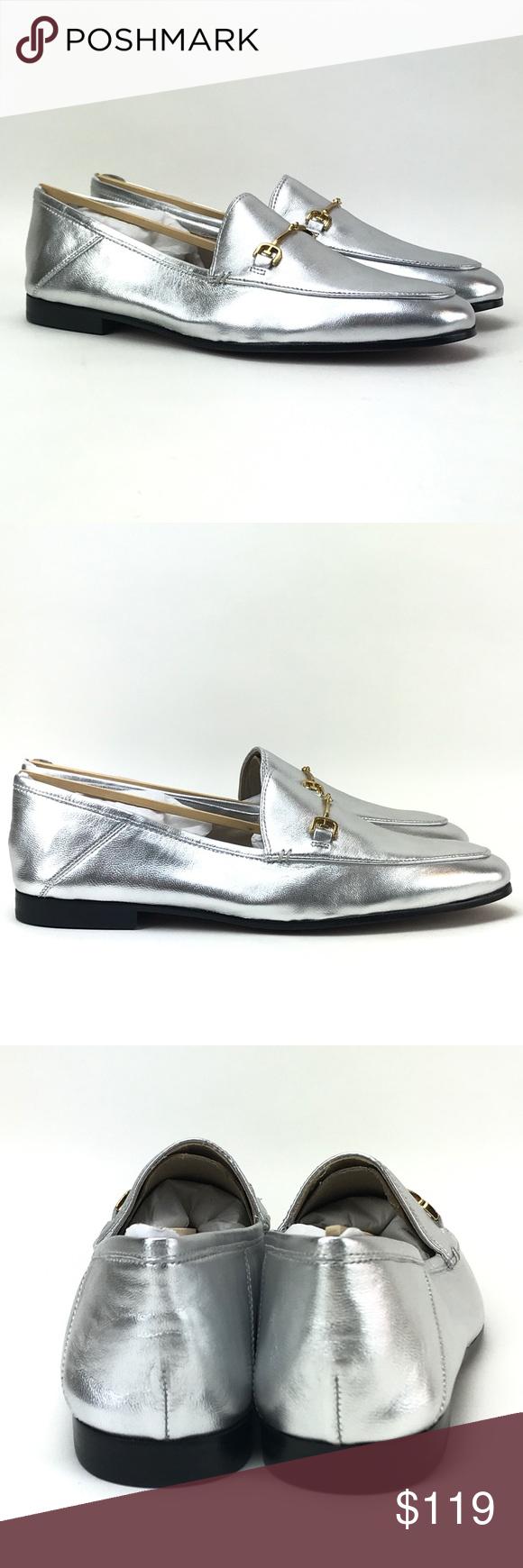 d155be38a Sam Edelman Womens Loraine Silver Loafers Sz 9.5 M Sam Edelman Women s Loraine  Silver Lea Loafers