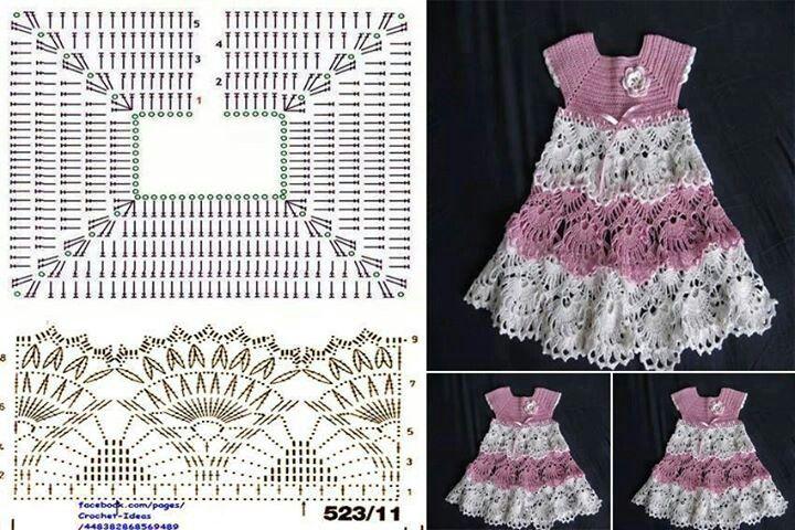 Girls dresses | Vestiditos | Pinterest | Tejido, Vestidos niña y ...