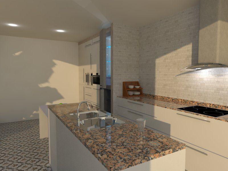 Cocina #moderno #decoracion via @planreforma #encimeras #barras de ...