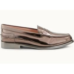 Photo of Tod's – Loafer aus Metallic-Leder, Beige, 35 – Shoes Tod's