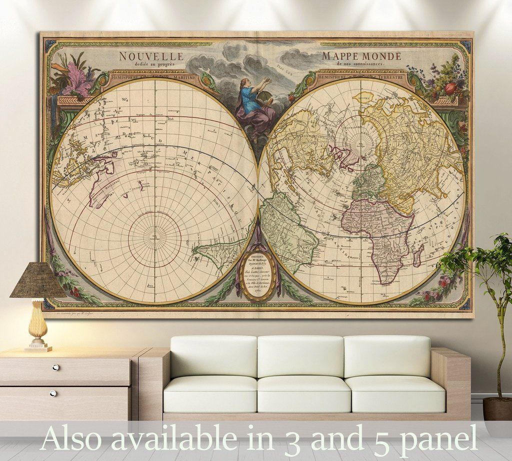 Old world map 1474 canvas print contemporary wall decor art old world map 1474 canvas print gumiabroncs Gallery