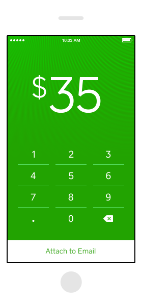 Cash Email money to anyone Square One Cash for iPhone
