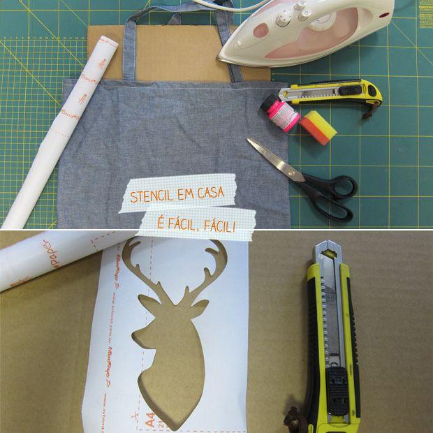 4aafd41a36 Para fazer  como estampar camiseta com stencil