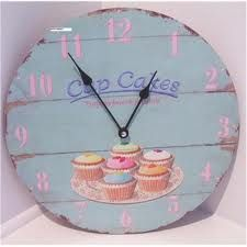 Retro cupcake clock