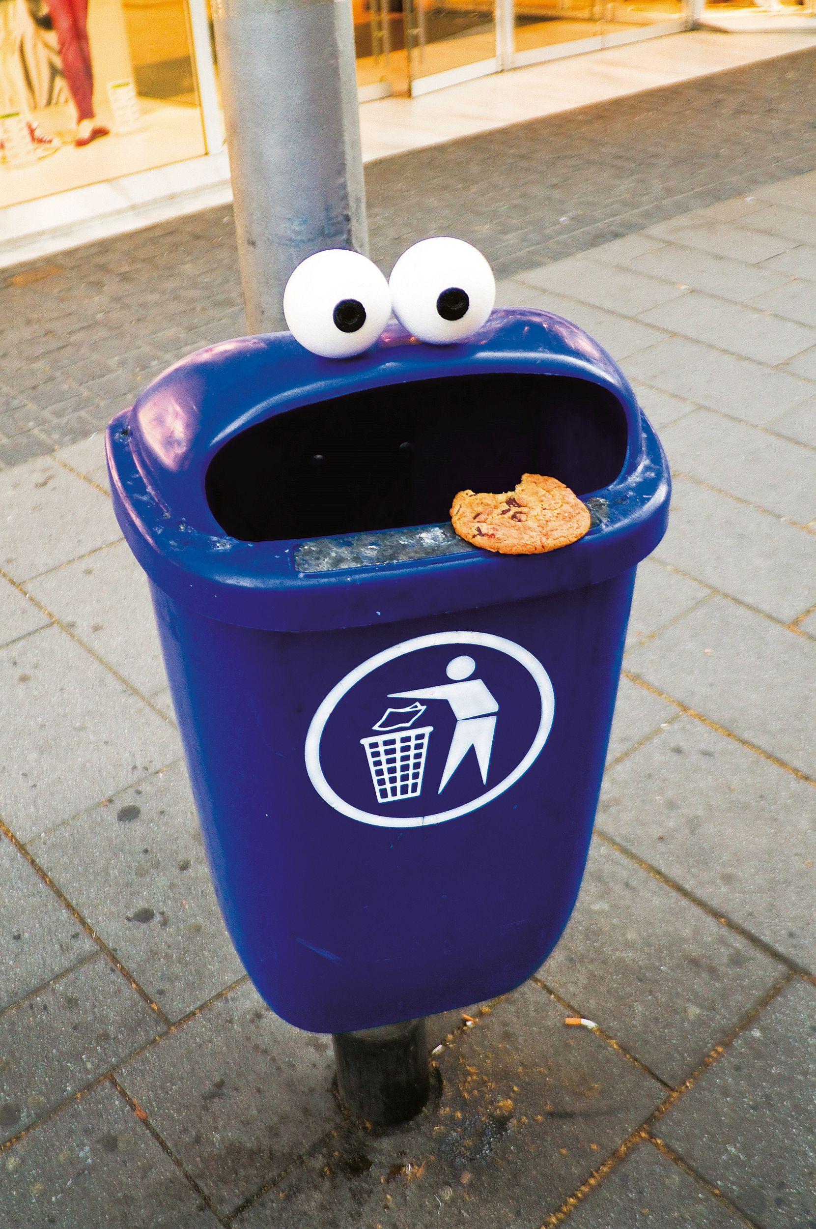 Timm Schneider NEON n°1 Biscuits monstre, Street art