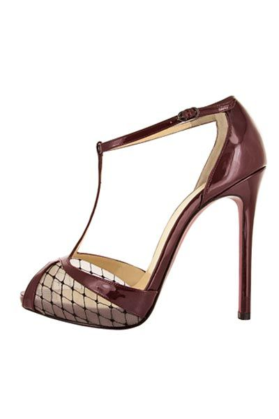 Christian Louboutin Autumn-Winter 2013 Lagoula 120 Burgundy (=)