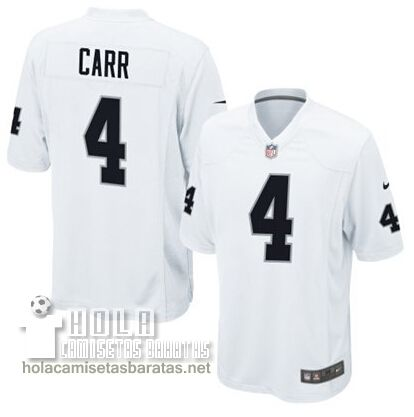 8866ac8eaae77 Camisetas Nfl Baratas Carr Oakland Raiders  4 Blanco €32.9 ...