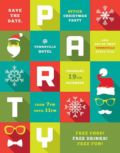 Christmas Holiday Office Party Invite By Stocklayouts