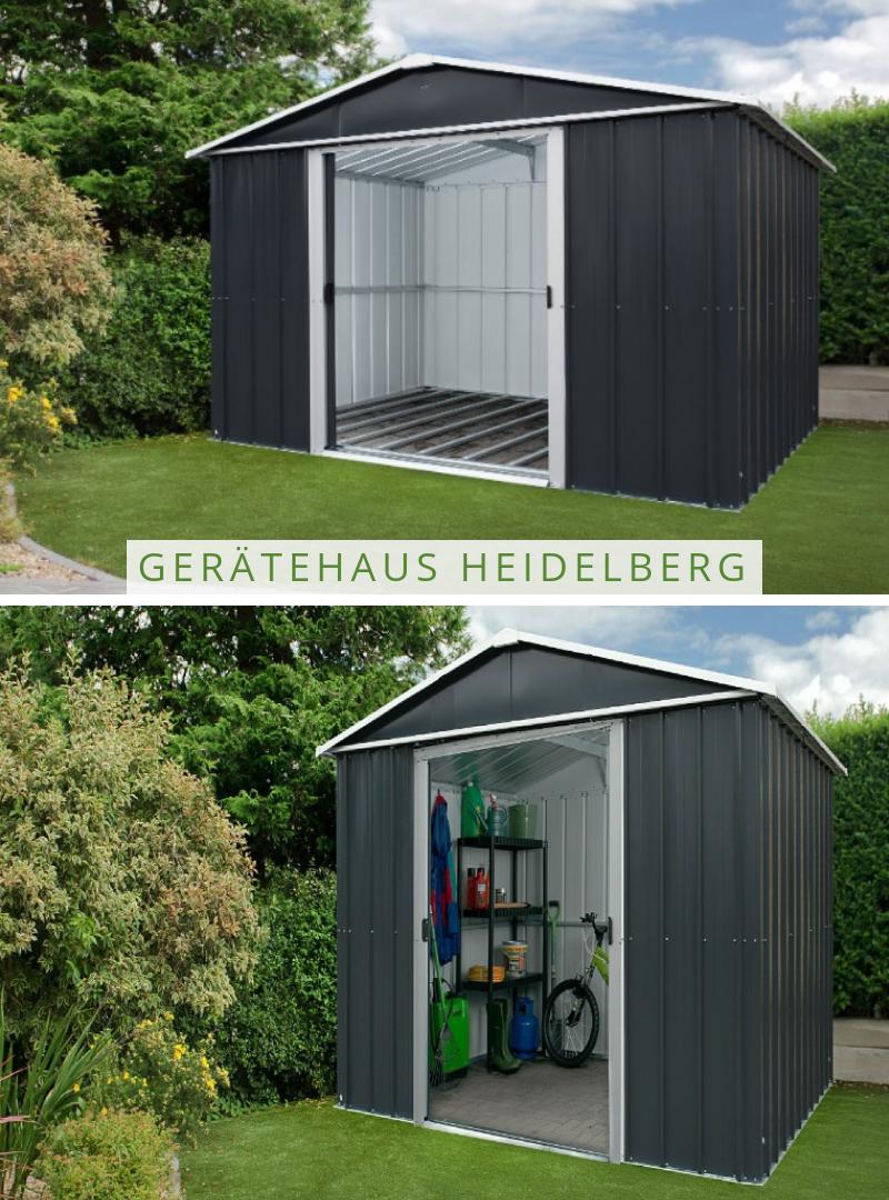 2f7863a09e7544 YARDMASTER Gerätehaus Heidelberg | Geräteschrank im Garten ...