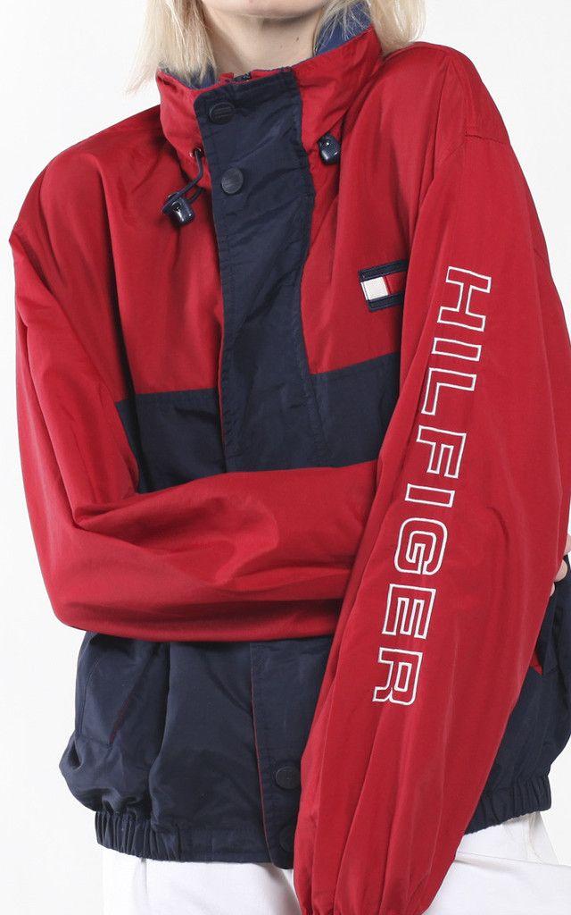 vintage tommy hilfiger windbreaker jacket vintage tommy. Black Bedroom Furniture Sets. Home Design Ideas
