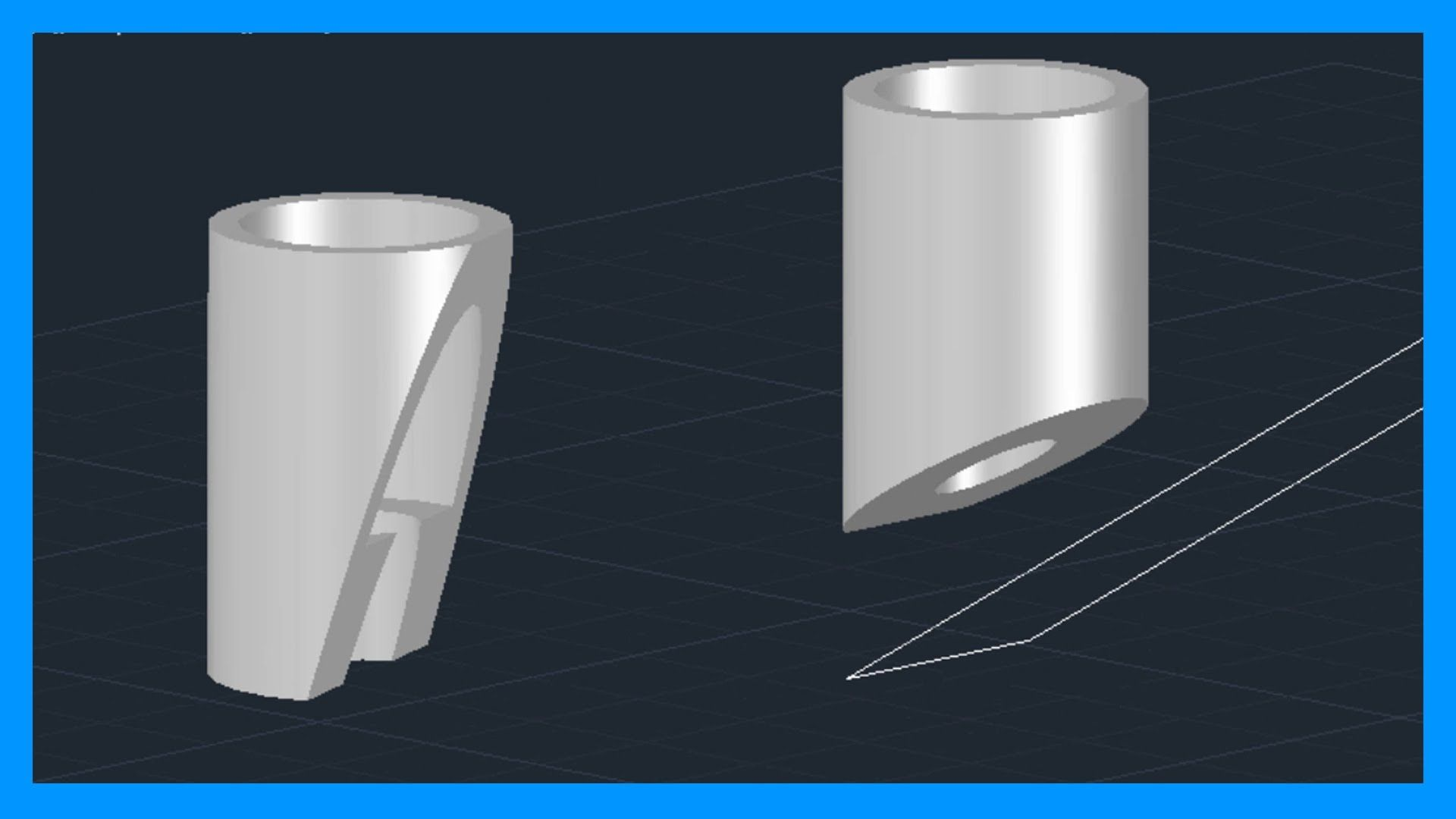 Autocad  Cortar slidos 3D Seccionar slidos Tutorial en
