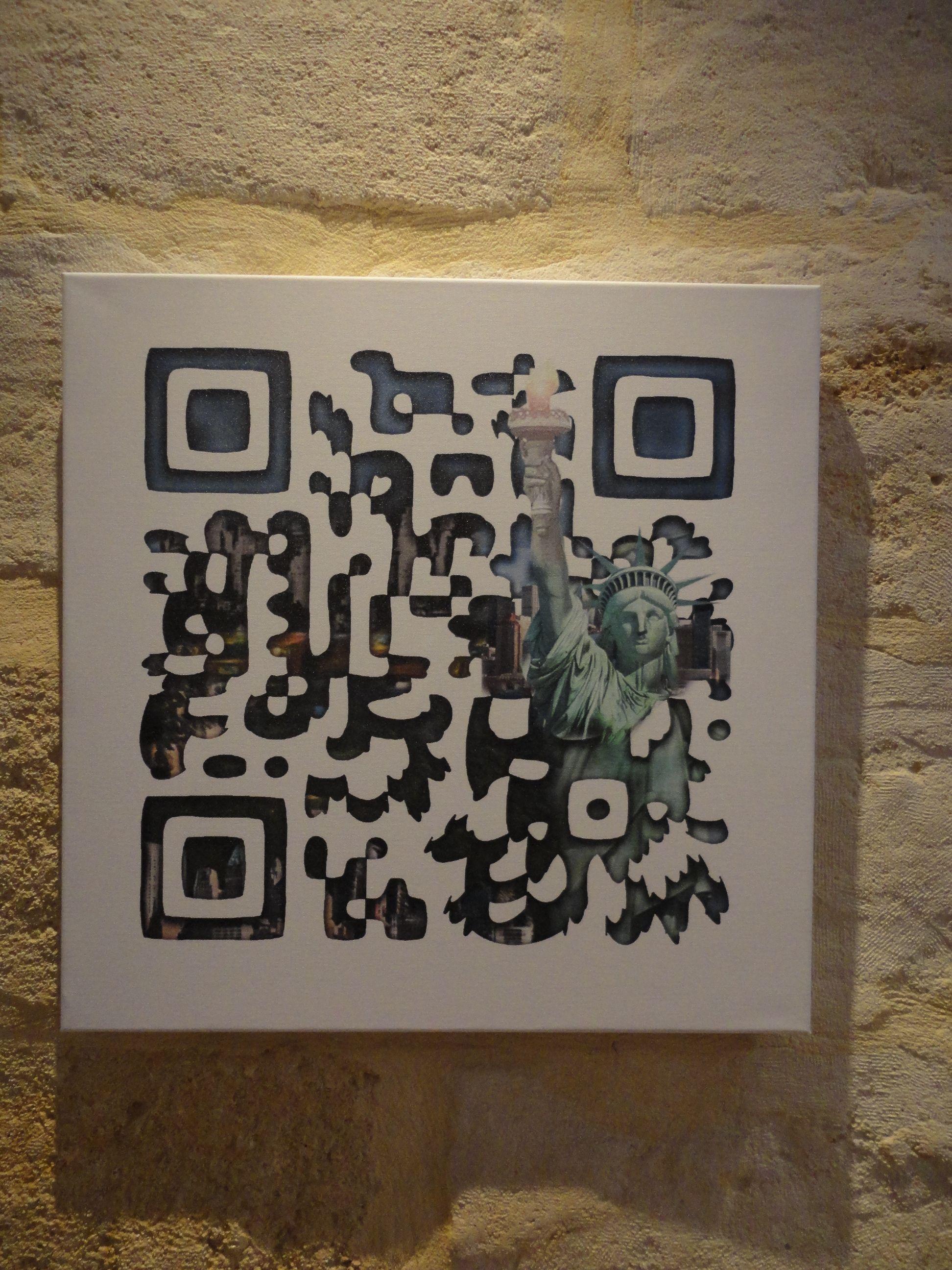 Qr Code On Canvas Numeriques Outils Carte De Visite Avec Decodage
