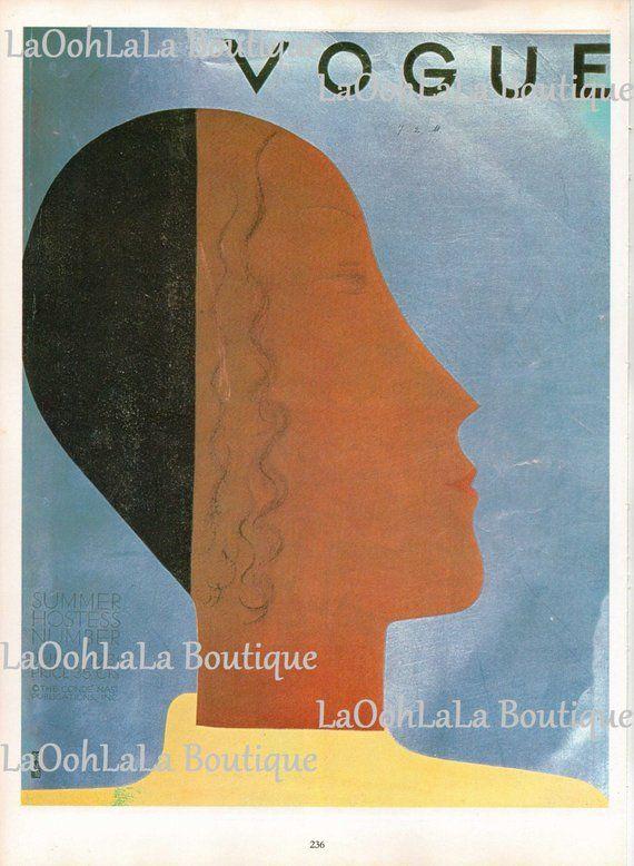 1931 Vogue Cover Digital Print Josephine Baker Flapper Fashion Haute Couture Black Woman Download Pr