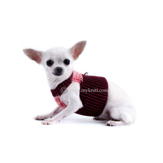 Dog Harness Small To Extra Large Pink Burgundy Dog Harness Vest