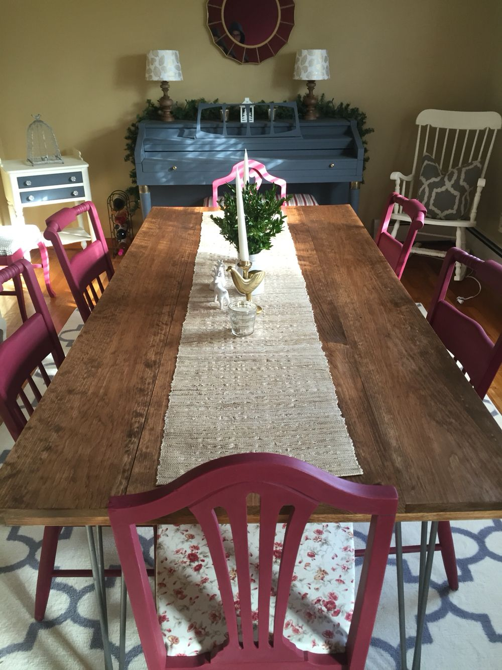 Hand Built Dining Room Tablecustom Table Runner And Refurbished Magnificent Custom Built Dining Room Tables Decorating Design