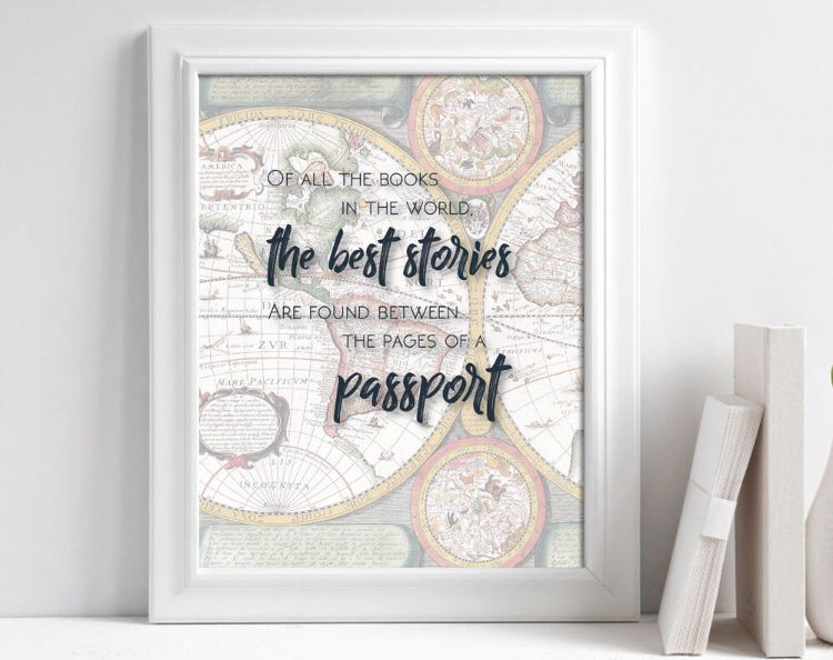 Travel Quote Poster Travel Quote Printable Travel Art Print Etsy Travel Wall Art Travel Gallery Wall Travel Art Print