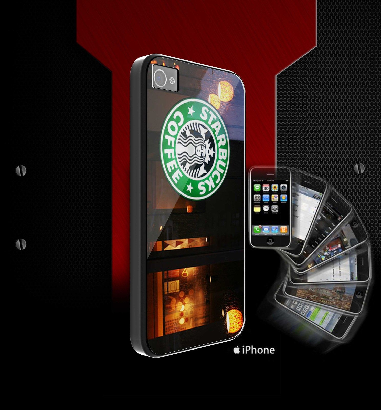 starbuck light for iphone 5 and iphone 4/s case