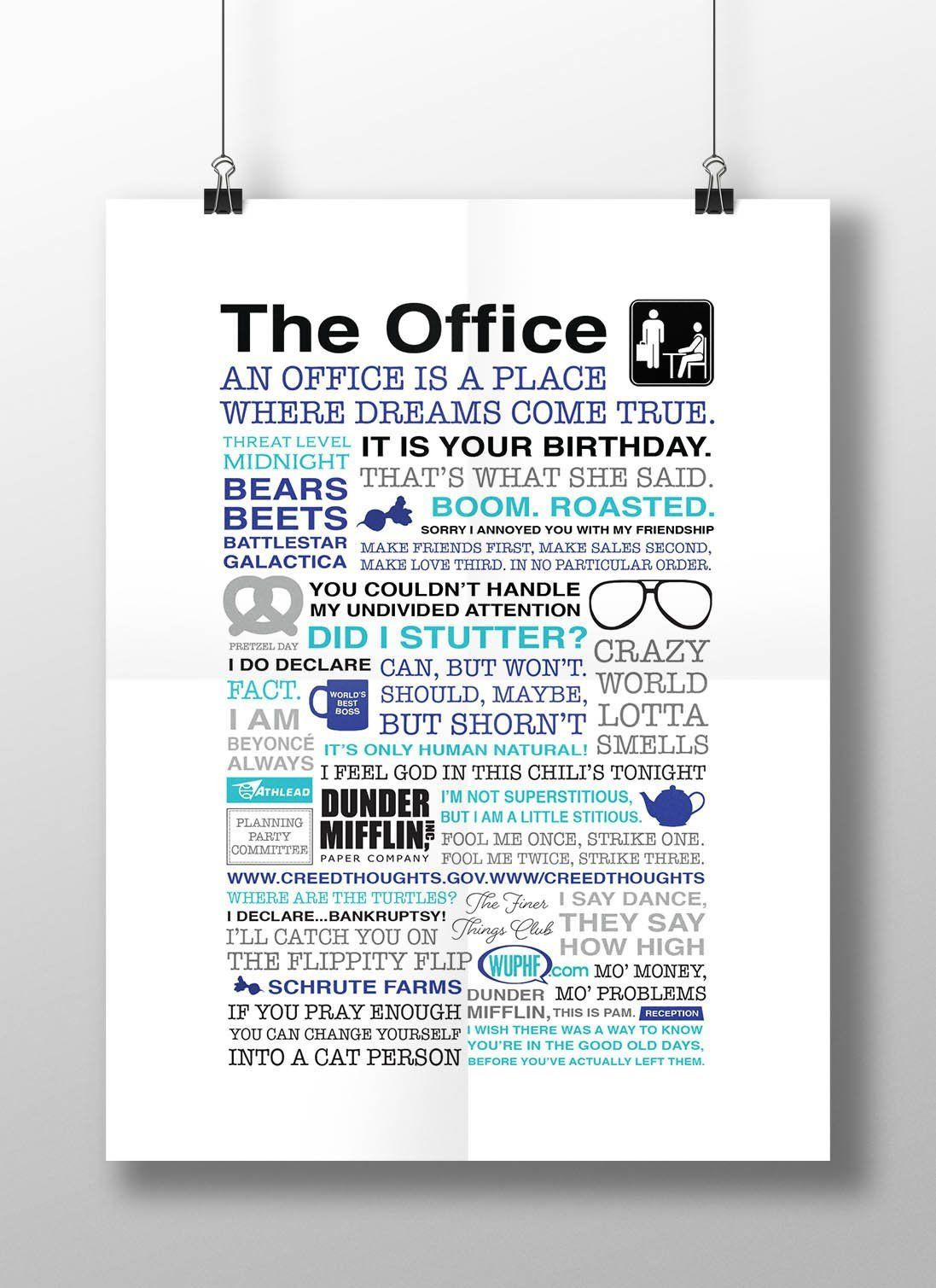 The Office Show Poster The Office Show Office Room Decor The Office