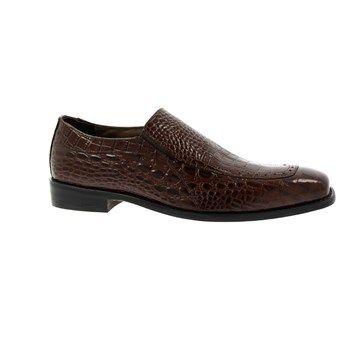 Stacy Adams Men's Parisi Apron Toe Slip On Shoes (Cognac)