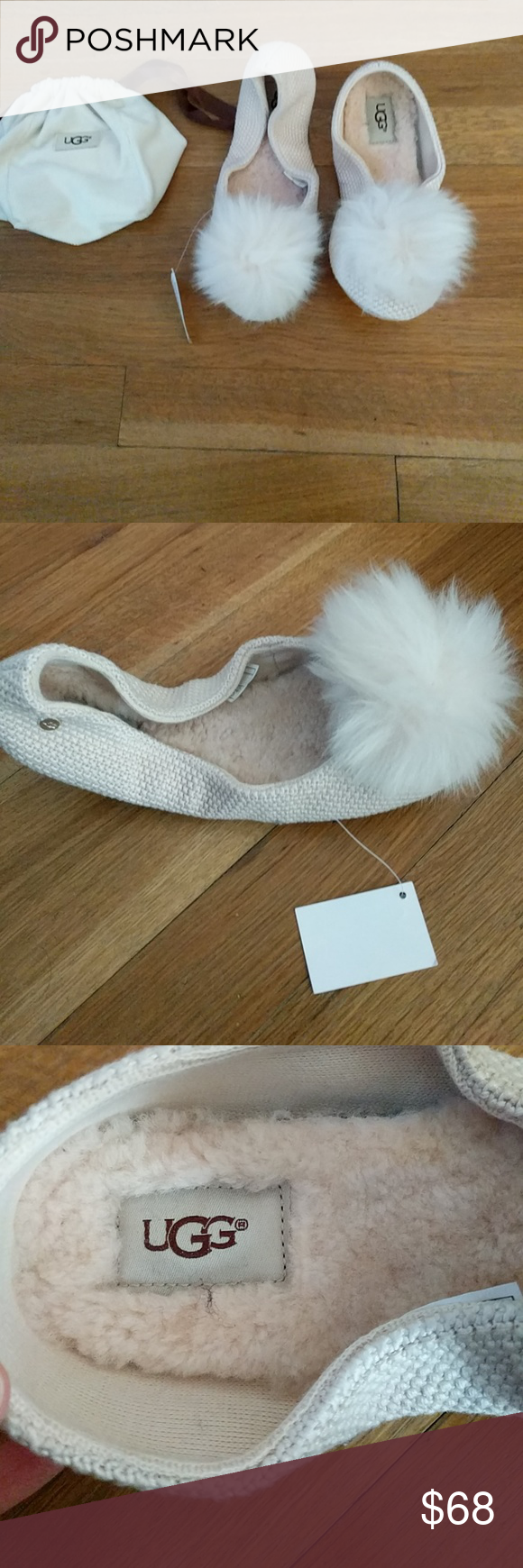 4e41bf42fd6 Ugg Andi Pom Pom Slippers Brand New with Tags. A softer take on ...