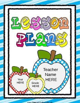 free editable lesson plan template juffie dinge pinterest